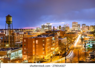 Richmond, Virginia, USA downtown cityscape over Main St.