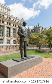 Richmond, Virginia, USA – September 17th, 2017: Harry Flood Byrd statue in Capitol Square Richmond.