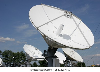 Richmond, Virginia/USA - August 10,2008: Satellite Dishes for NBC affiliate WWBT 12 TV station in Richmond