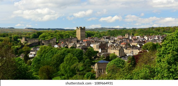 Richmond, Yorkshire, seen from above