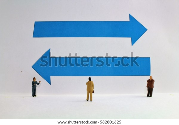 Richtung Geschäftsleben