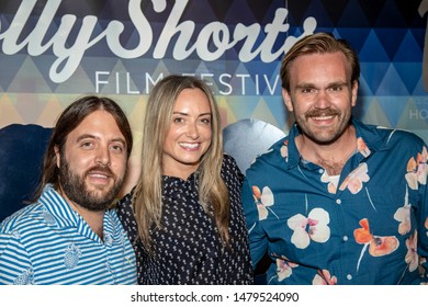 Rick Darge, Guerrin Gardner, Chris Cand attends 15th Annual HollyShorts Film Festival Day 3 at TCL Chinese 6 Theatres, Hollywood, CA on August 14 2019