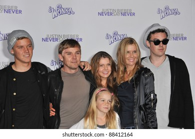 """Rick Schroder & family at the Los Angeles premiere of """"Justin Bieber: Never Say Never"""" at the Nokia Theatre LA Live. February 8, 2011  Los Angeles, CA Picture: Paul Smith / Featureflash"""