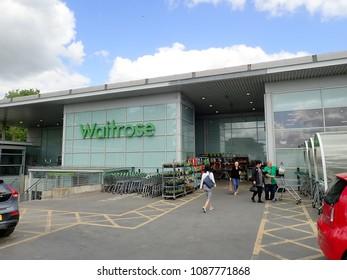 Rickmansworth, Hertfordshire, England, UK - May 10th 2018: Waitrose Store, Homestead Rd, Rickmansworth, Hertfordshire
