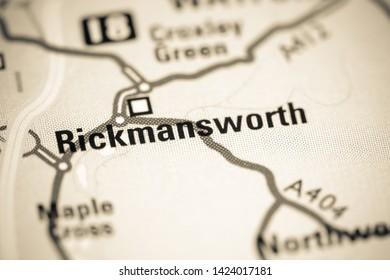Rickmansworth. United Kingdom on a map