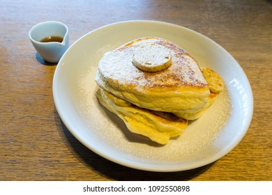 Ricotta Hotcakes on the table