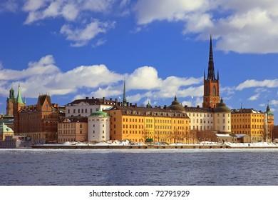 Riddarholmen, small island in central Stockholm. Sweden.
