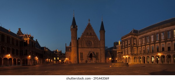 The Ridderzaal (Hall of knights) in The Hague by night