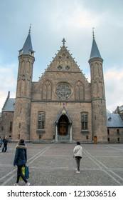 The Ridderzaal Inside The Binnenhof At Den Haag City The Netherlands 2018