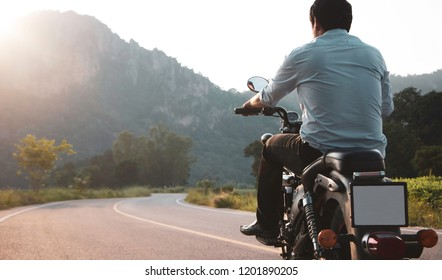 Ride the motorbike to the mountains on holiday.
