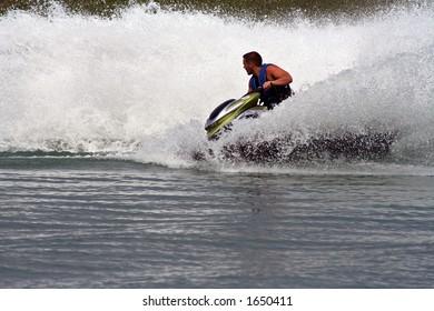 Ride on a jet ski