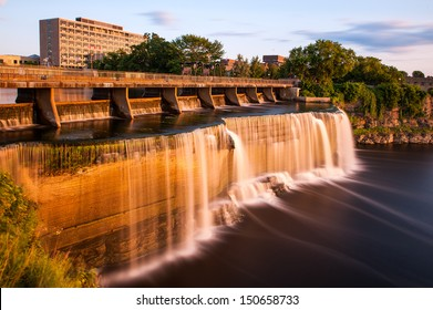 The Rideau waterfalls of Ottawa in Canada