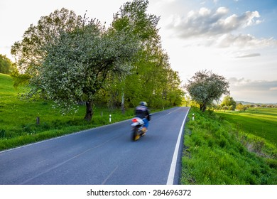Rider in a landscape