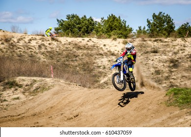 the rider on the motocross jump