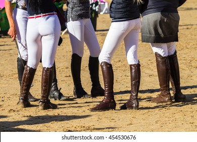 Riders Boots Riders unidentified boots gear man women on equestrian arena