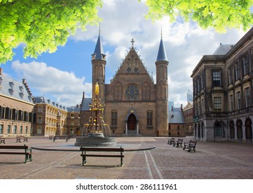 Riderzaal of Binnenhof - Dutch Parliamentat summer day, The Hague, Holland