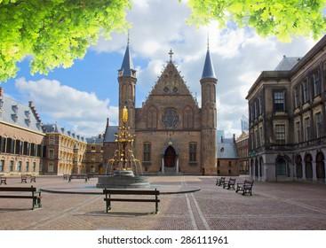 Riderzaal of Binnenhof - Dutch Parliamentat summer day, The Hague, Holland