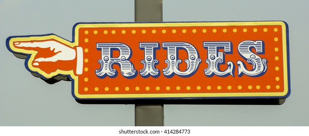 Rides sign