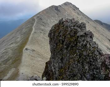 Ridge in the mountain