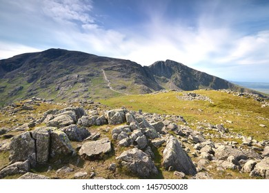 The ridge from Scafell Pike to Sca Fell