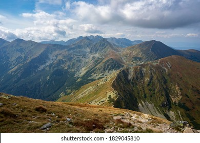 Ridge trail to Hruby vrch. Western Tatras. - Shutterstock ID 1829045810