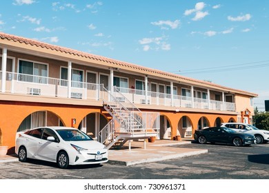 RIDGECREST, CALIFORNIA. 17th August, 2017: traditional road motel at californian town