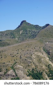 Ridges formed from ancient lahar pyroclastic mudflow, Volcanic National Monument, Washington