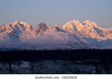 Ridges Peaks Mount McKinley Denali National Park Alaska Mountain Range United States