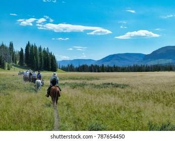 Riding across the prairie - Yellowstone National Park