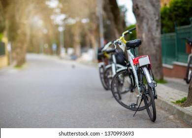 Riding bicycle around the world.