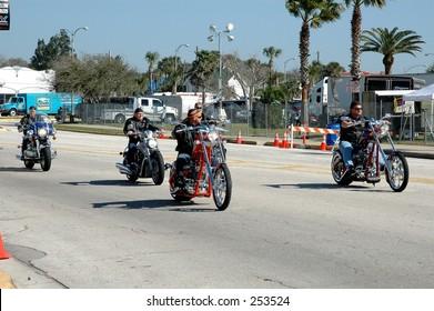 Riding at the Daytona bike week, 2005