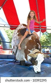 riding a mechanical bull