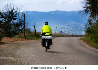 riding on bicycles on the Mountain