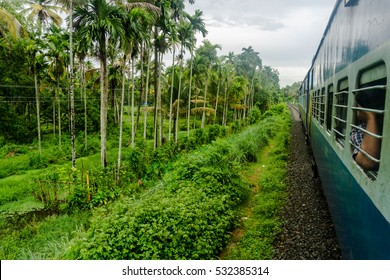 Riding the train to Appelley (from Kochi)