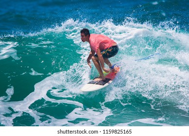 Riding the waves. Costa Rica, surfing paradise