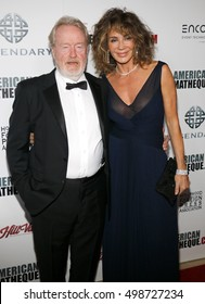 Ridley Scott and Giannina Scott at the 30th Annual American Cinematheque Awards Gala held at the Beverly Hilton Hotel in Beverly Hills, USA on October 14, 2016.