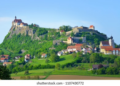 RIEGERSBURG, AUSTRIA - APRIL 28:Old medieval fortification and castle Riegersburg, on April 28, 2018. in Riegersburg, Austria