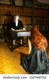 RIEGERSBURG, AUSTRIA - APRIL 28:Trial to the witch, on April 28, 2018. in Riegersburg, Austria