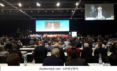 Riesa Germany January 12, 2019: Federal Party Congress of Alternative for Germany (AfD)