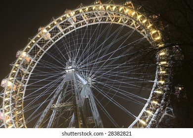 Riesenrad giant ferris wheel is over 100 years old.