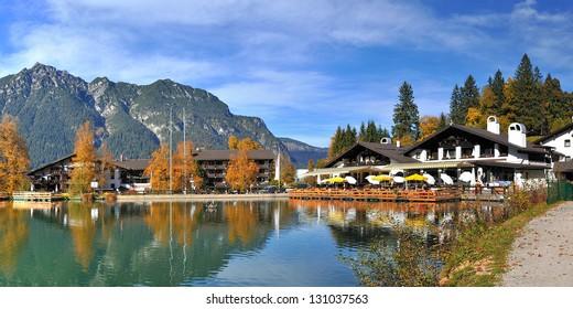 Riessersee Lake Garmisch Partenkirchen, Germany