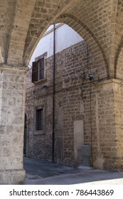 Rieti (Lazio, Italy): exterior of historic buildings along a typical street near the cathedral