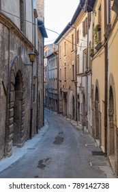 Rieti (Lazio, Italy): exterior of historic building along a typical street