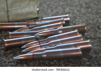 Rifle Gun Ammunition and Bullets in Size 7.62x54