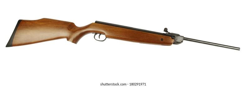 Rifle isolated on plain background