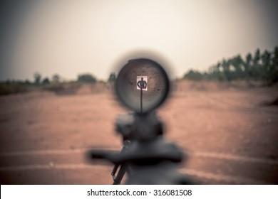 rifle target view