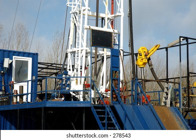 Rig floor, small land based oil rig