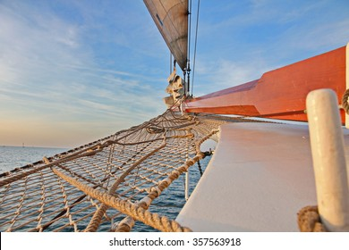 Rig on sailing vessel in summer
