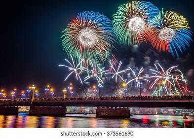 Riga firework show