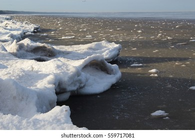 Riga Gulf coast during the winter